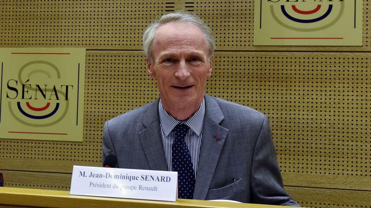 Jean-Dominique Senard était auditionné mardi en commission au Sénat.