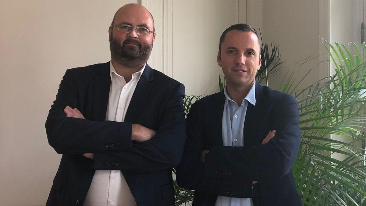 Le fondateur de Lineon Sébastien Michaud et Erwan Brouder, directeur de BSSI.