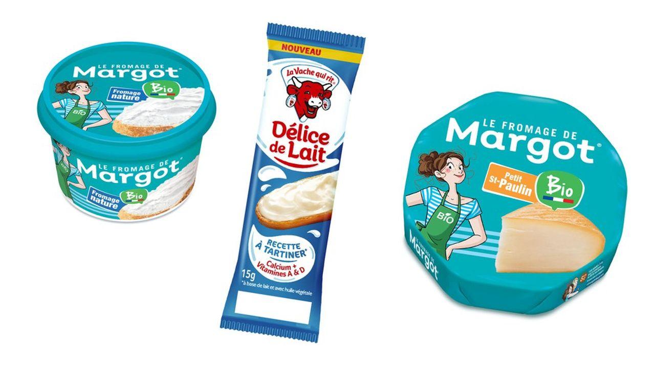 Bel ne tourne pas le dos à sa vocation laitière. En revanche, il élargit son portefeuille. il crée une nouvelle marque Margot100% Bio et prend le virage du végétal en lançant toute une série de produits «hybrides», qui associent lait et végétaux.