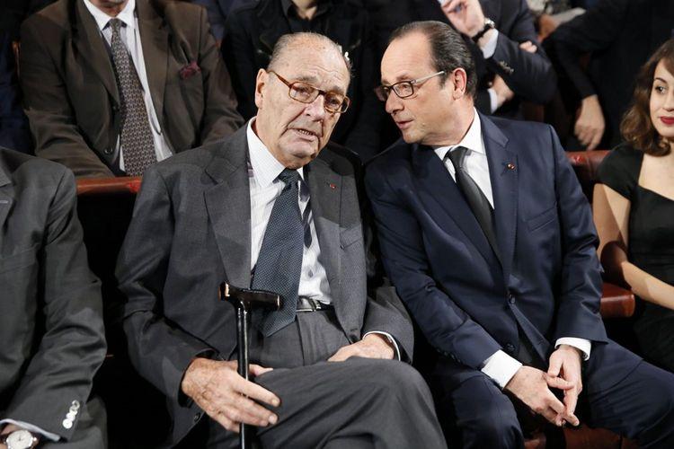 Jacques Chirac et François Hollande, le 26septembre 2019.