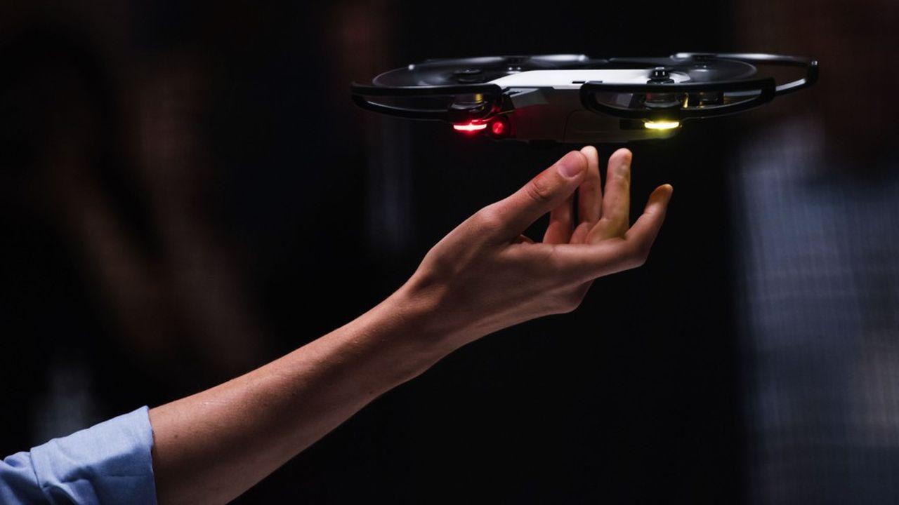 Le Spark, le mini-drone conçu par DJI.