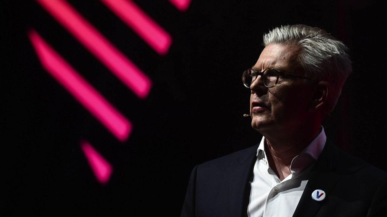Börje Ekholm a redressé financièrement Ericsson depuis son arrivée à la tête du géant suédois des télécoms, début 2017. (Photo by Philippe LOPEZ/AFP)