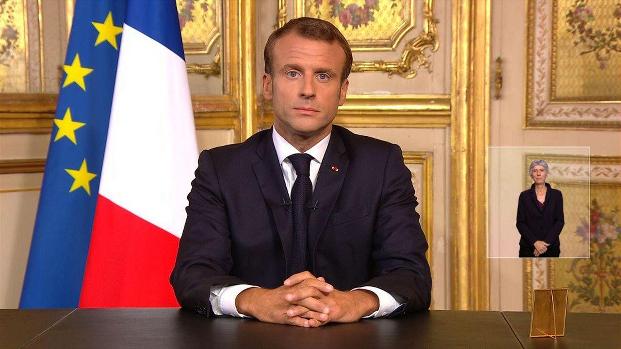 Emmanuel Macron a pris la parole lors d'une allocution télévisée en hommage à Jacques Chirac.