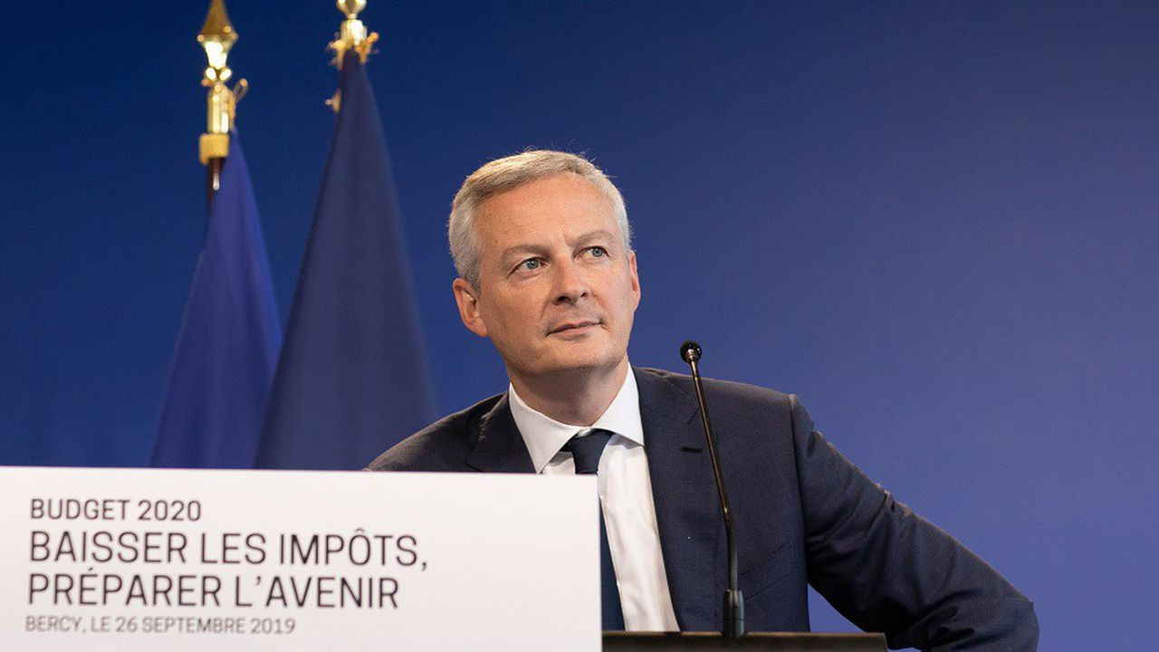 Le ministre français de l'Economie, Bruno Le Maire, lors de la conférence de presse de présentation du projet de loi de finances pour 2020.