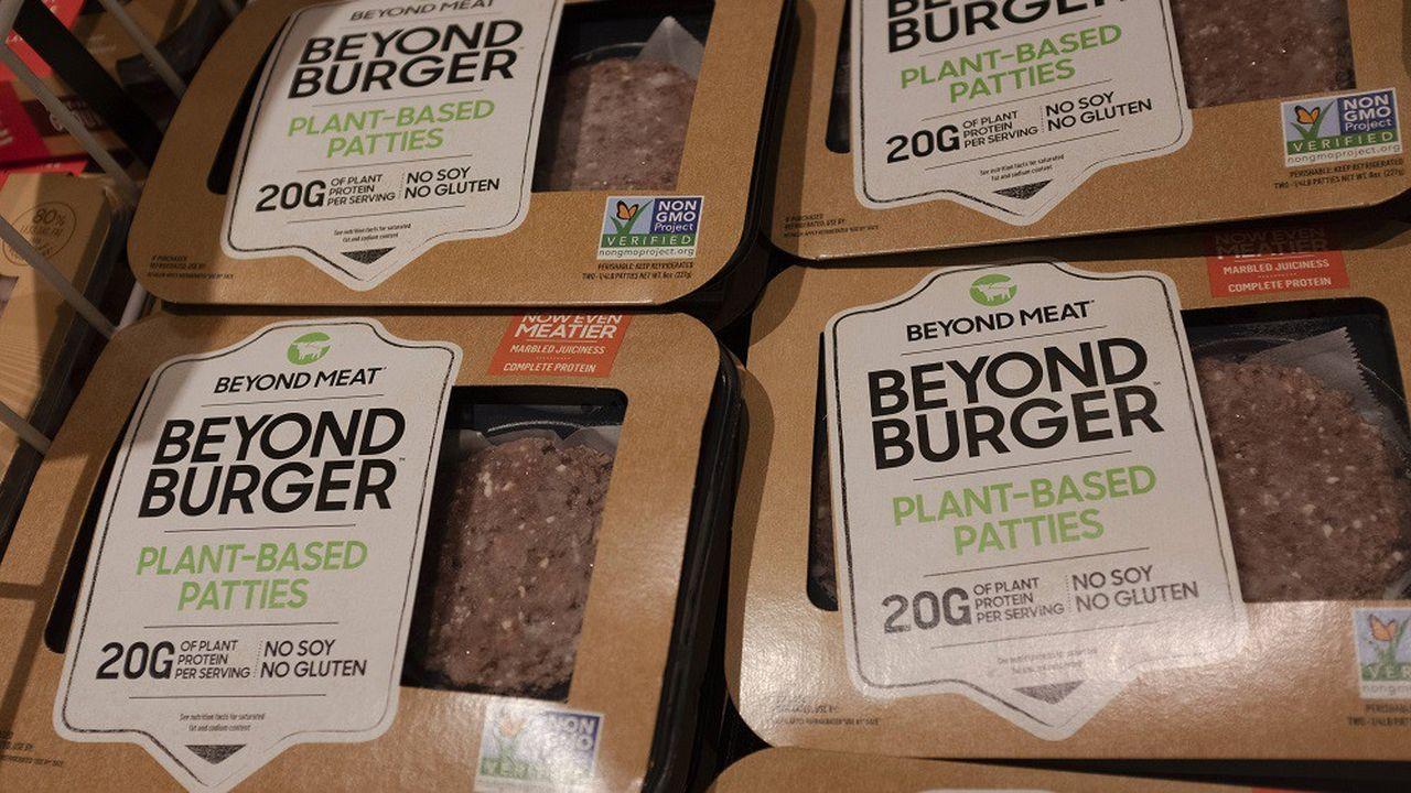 Des produits Beyond Meat dans un magasin de San Jose, en Californie.