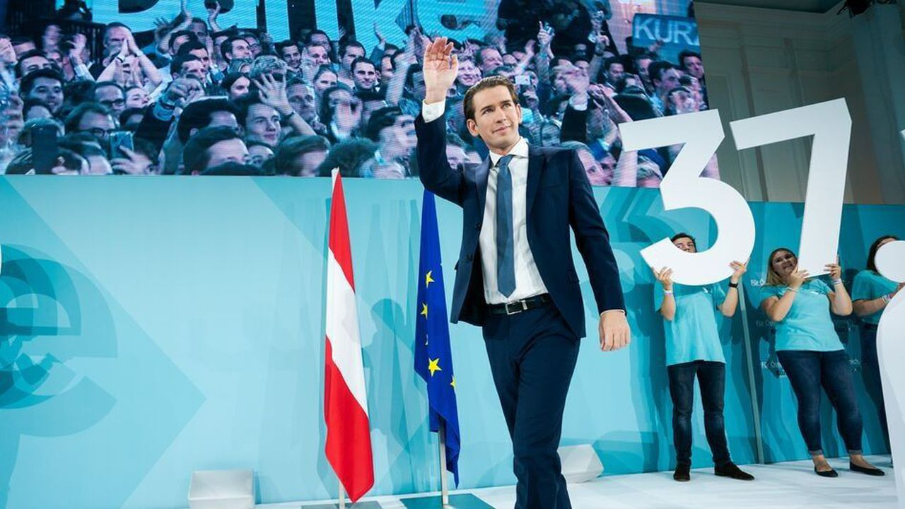 Le parti populaire autrichien de Sebastien Kurz gagne 11 sièges au Parlement autrichien par rapport à l'élection législative de 2017