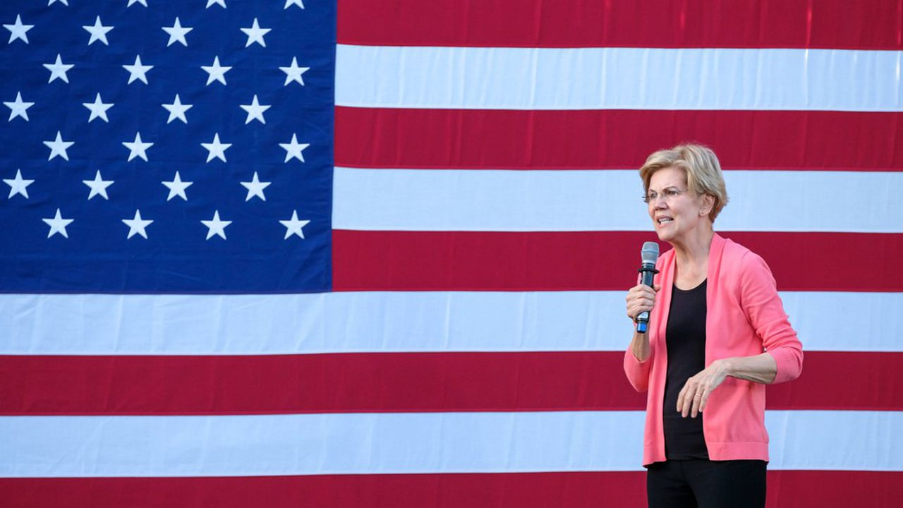 Elizabeth Warren, sénatrice du Massachusetts et candidate à la primaire démocrate pour l'élection présidentielle de 2020.