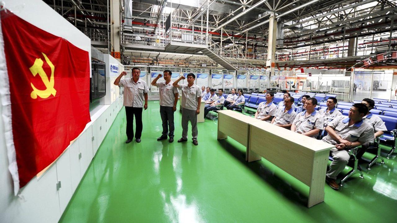 Le Parti communiste chinois reste très présent dans les entreprises.