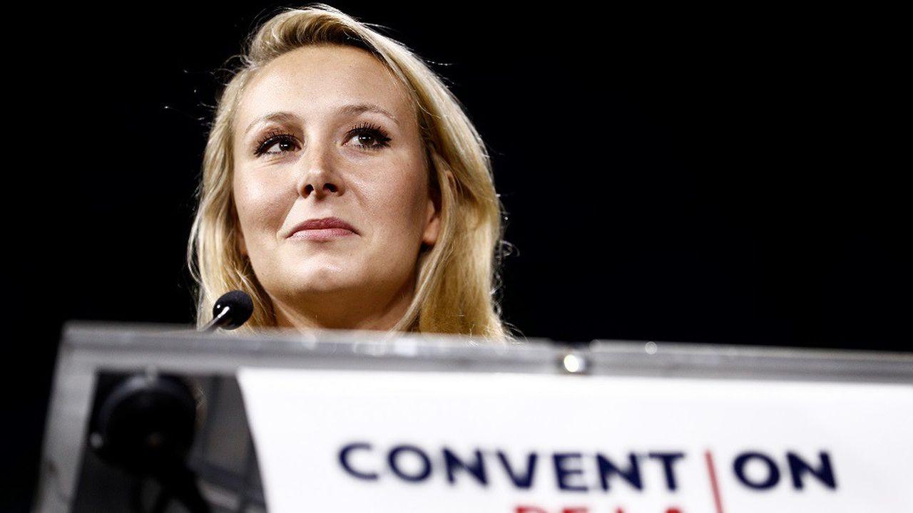 Marion Maréchal lors de son discours à la «Convention de la droite» organisée samedià Paris.