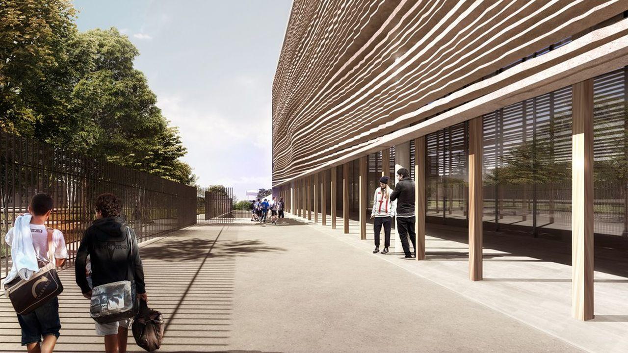 Le bâtiment, qui pourra accueillir 600 élèves, doit se démarquer par son originalité architecturale.