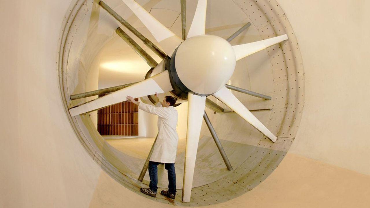 Une soufflerie en test sur l'un des plateaux techniques du campus Prométée, dédié à l'aéronautique et aux transports.
