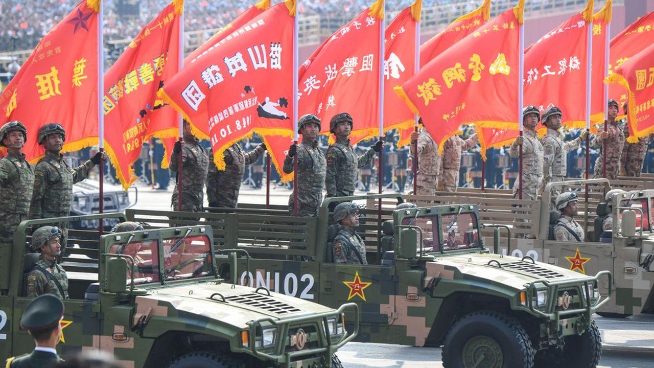 Défilé militaire pour l'anniversaire des 70 ans de la République populaire de Chine.