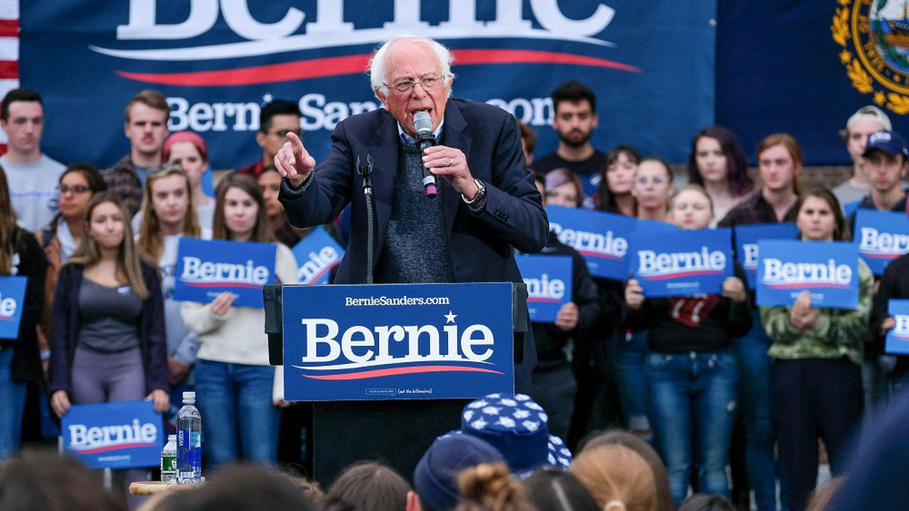 Bernie Sanders en meeting dans le New Hampshire, le 30 septembre 2019