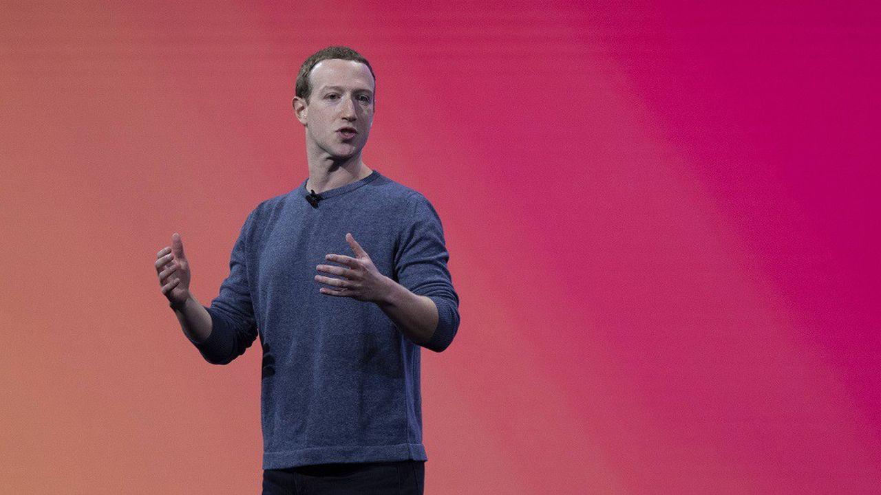 Le CEO de Facebook Mark Zuckerberg lors d'une keynote à la Facebook Developer Conference en avril2019.