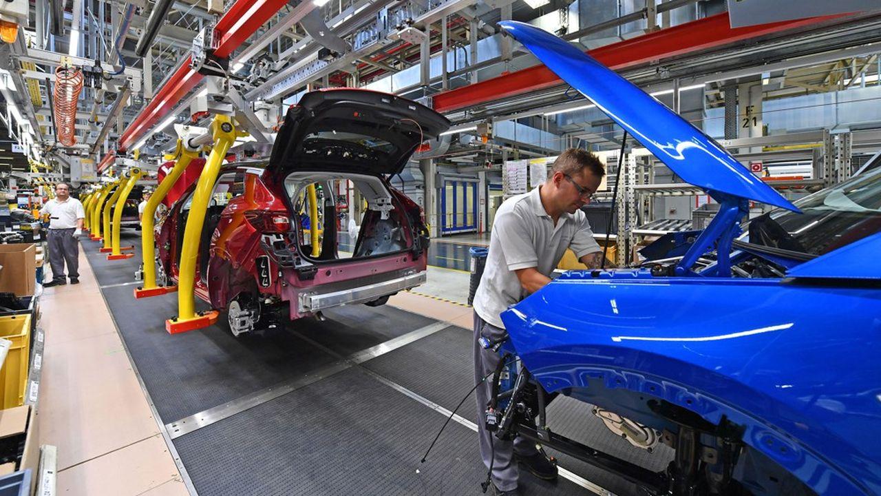 Opel vient de confirmer le passage à temps partiel d'une partie des 2.600employés de son usine historique de Rüsselsheim, en Hesse (ici l'usine d'Eisenach dans l'est de l'Allemagne).