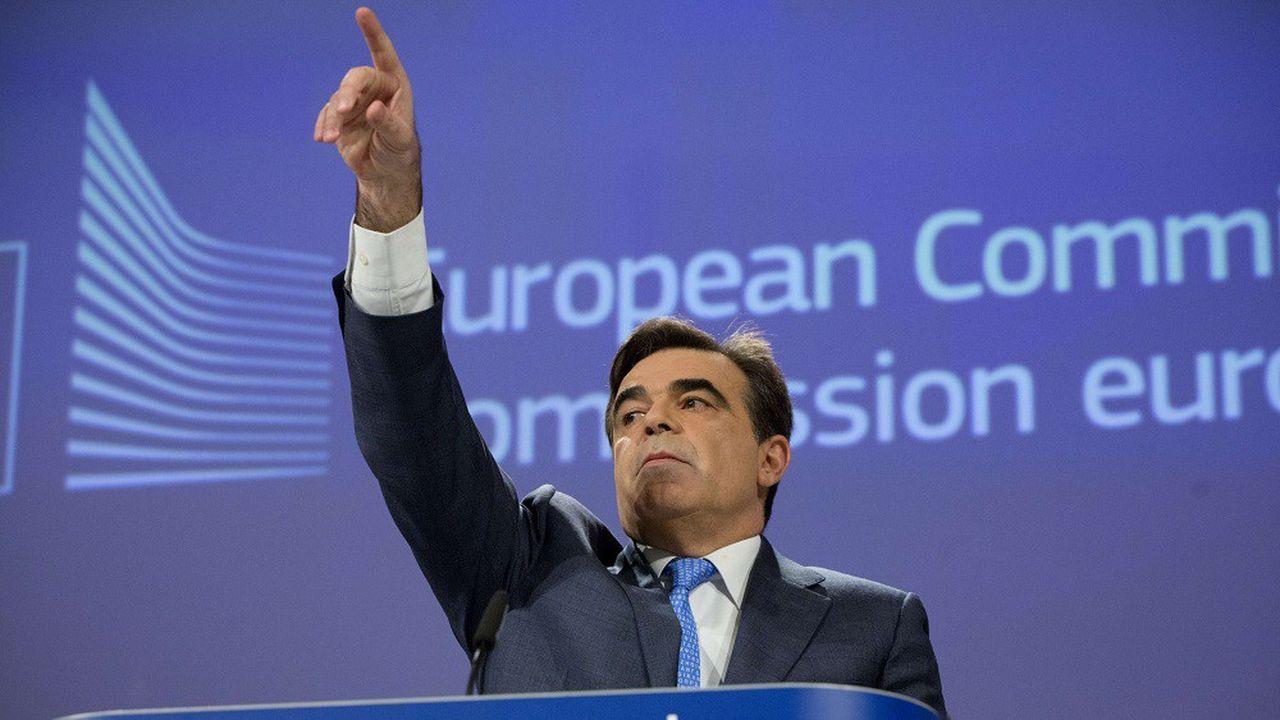 Le Grec Margaritis Schinas est porte-parole de la Commission européenne depuis 2014.