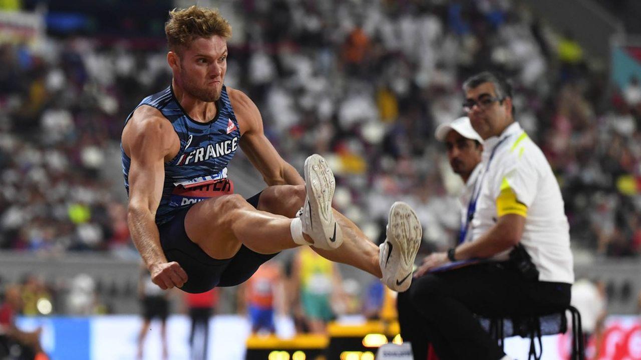 Kevin Mayer recordman du décathlon, ici aux championnats du monde d'athlétisme de Doha.