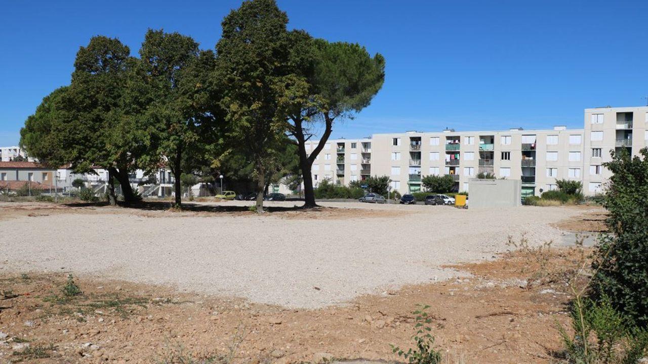 Le site où va être posée la première pierre de la maison de santé.