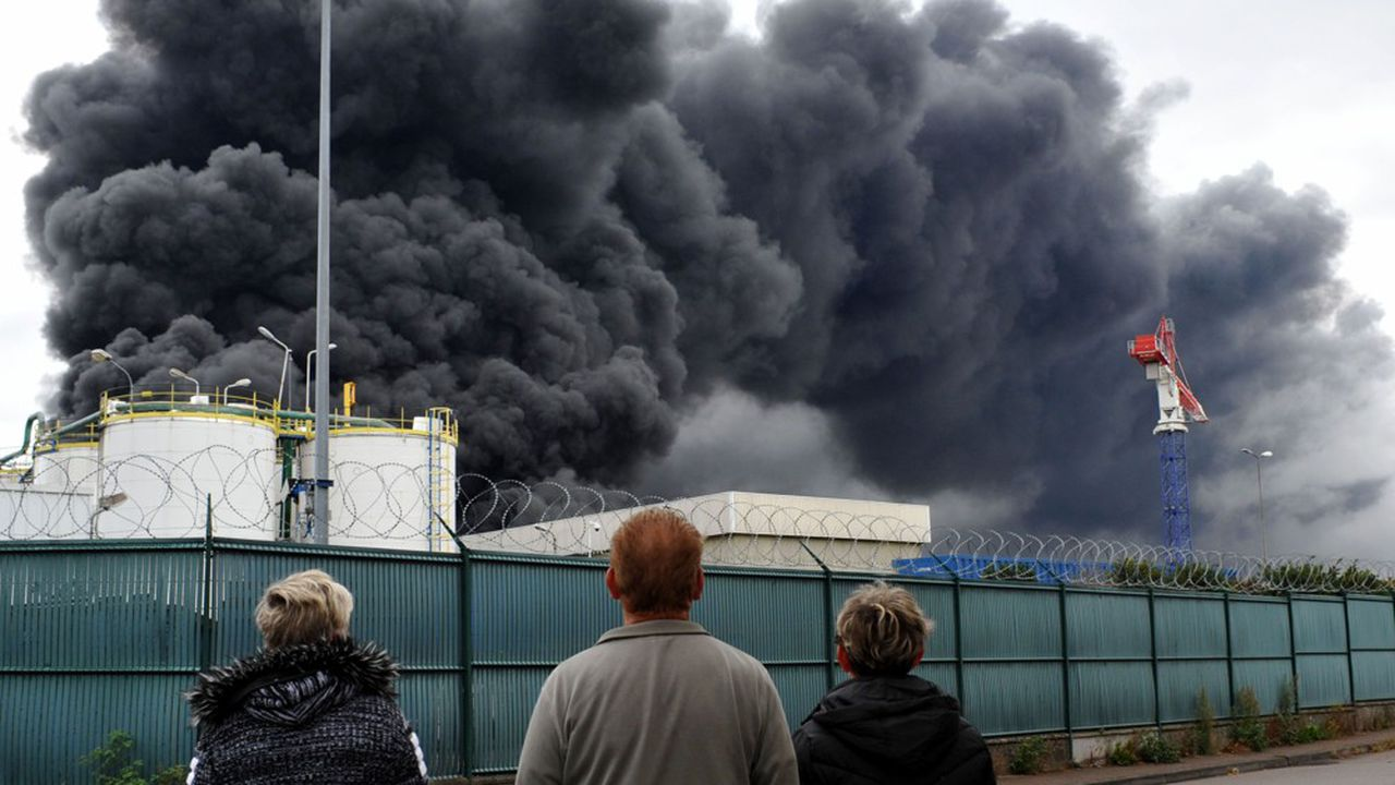 L'incendie de l'usine Lubrizol à Rouen, le 26septembre 2019.