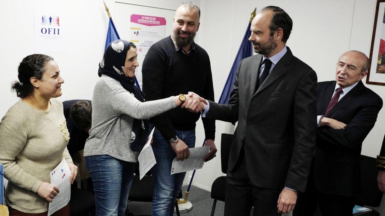 Le Premier ministre, Edouard Philippe, ici lors d'une visite pour la signature de contrats d'intégration républicaine, doit ouvrir ce lundi à l'Assemblée nationale le débat sur la politique migratoire voulue par Emmanuel Macron.