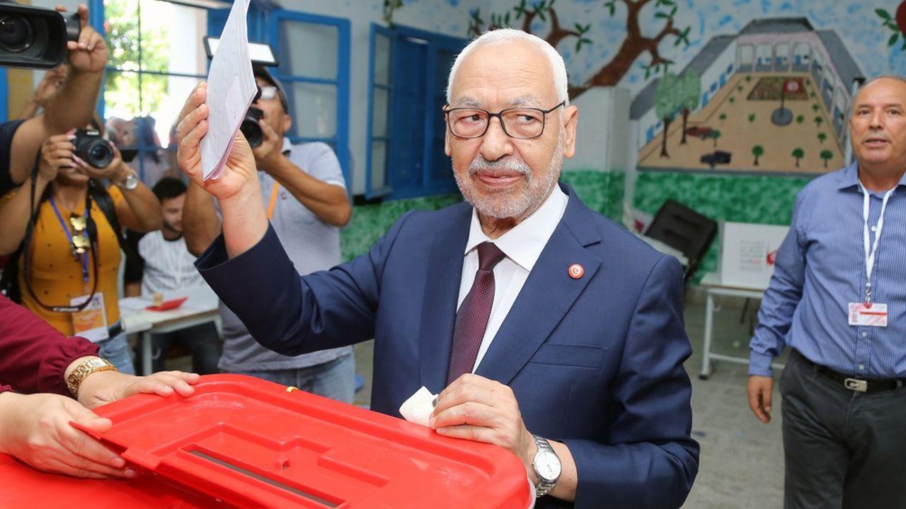 Ennahdha, le parti d'inspiration islamiste de Rached Ghannouchi (photo), a gagné le plus grand nombre de sièges lors des élections législatives de dimanche, selon les sondages.