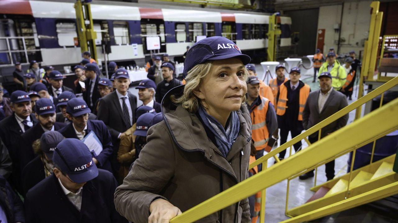 Valérie Pécresse à l'usine de Reichshoffen le vendredi 4octobre.