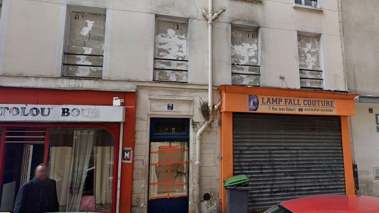 L'immeuble du XVIIIe arrondissement sous le coup d'une procédure d'expropriation.