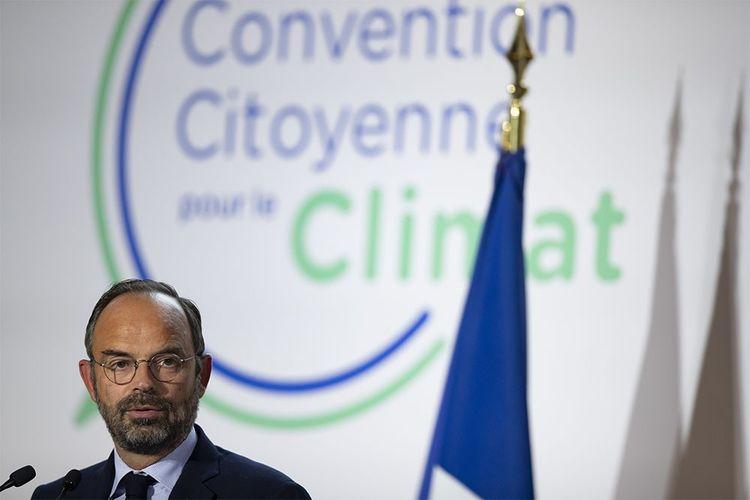 Edouard Philippe, lors du lancement de la Convention citoyenne pour le climat.