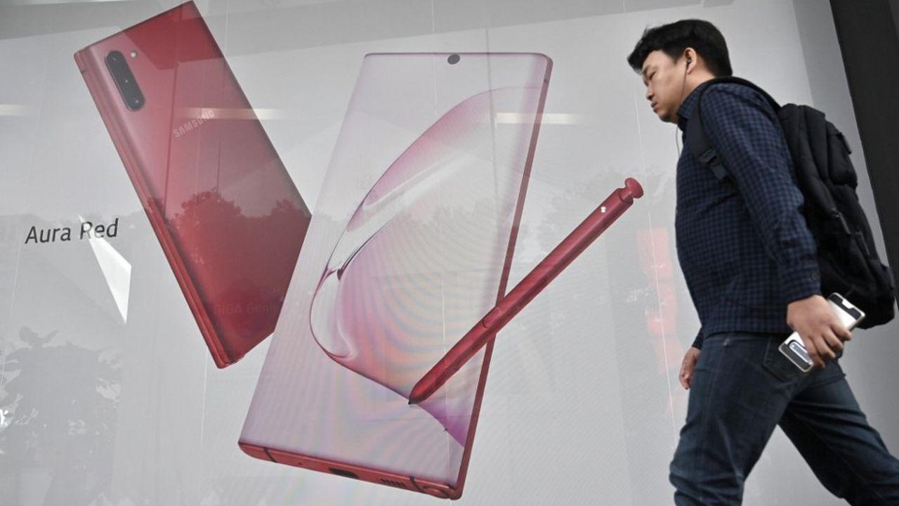 Le Galaxy Note 10 de Samsung bénéficie d'une demande soutenue.