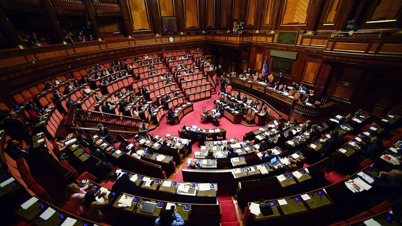 Montecitorio, la Chambre des députés italienne.