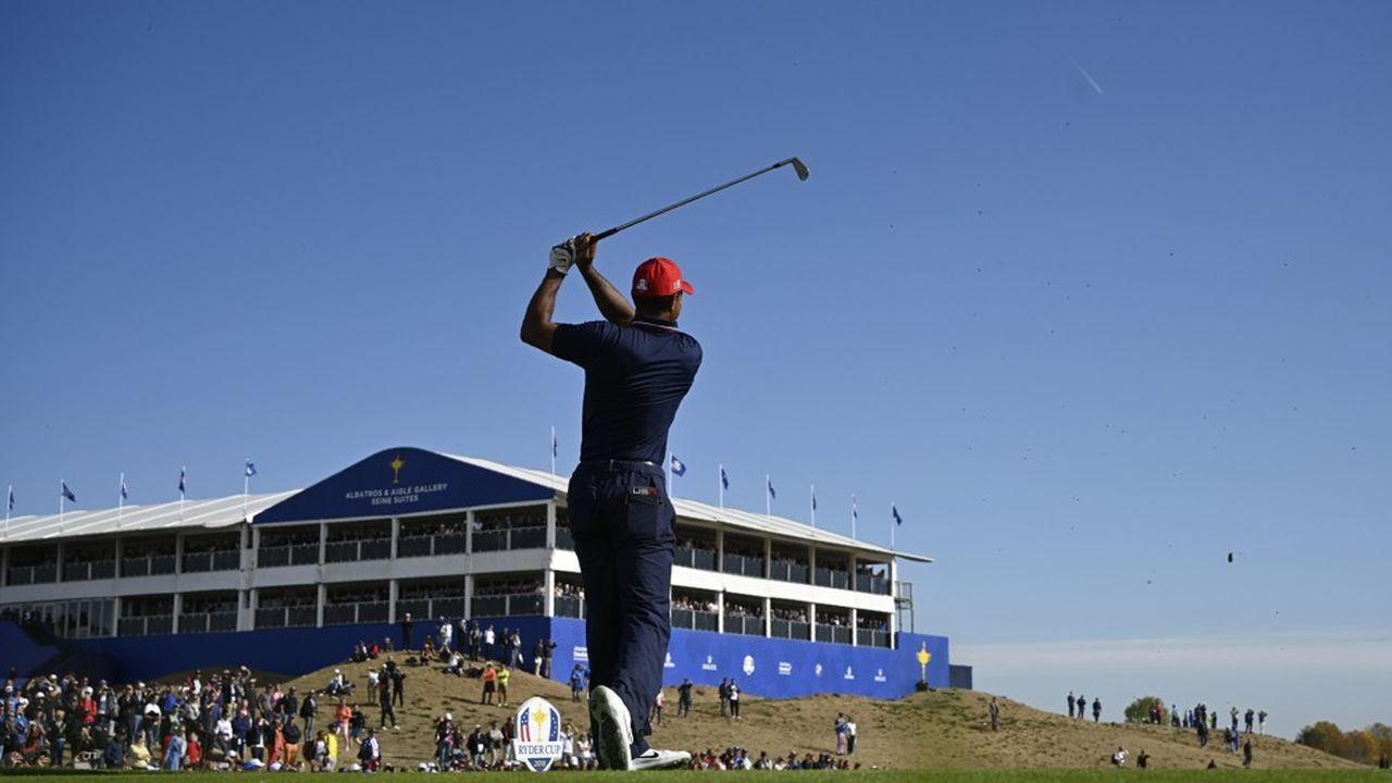 Tiger Woods lors de la Ryder Cup au Golf de Saint-Quentin-en-Yvelines.