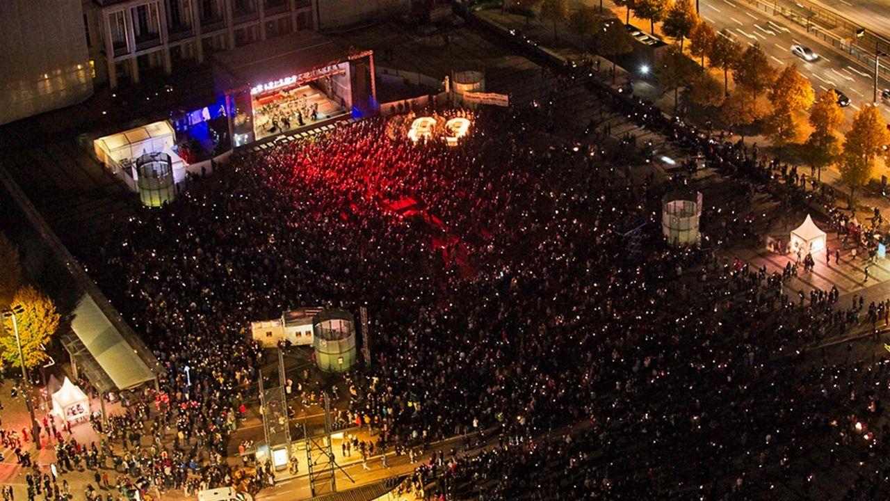 Les fêtes de la lumière de Leipzig, comme ici en 2018, attirent chaque année les foules.
