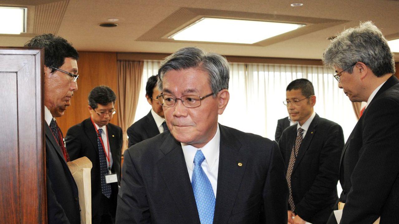 Le président de Kansai Electric Power Co (KEPCO) Makoto Yagi, le 18juin 2012 à Tokyo.