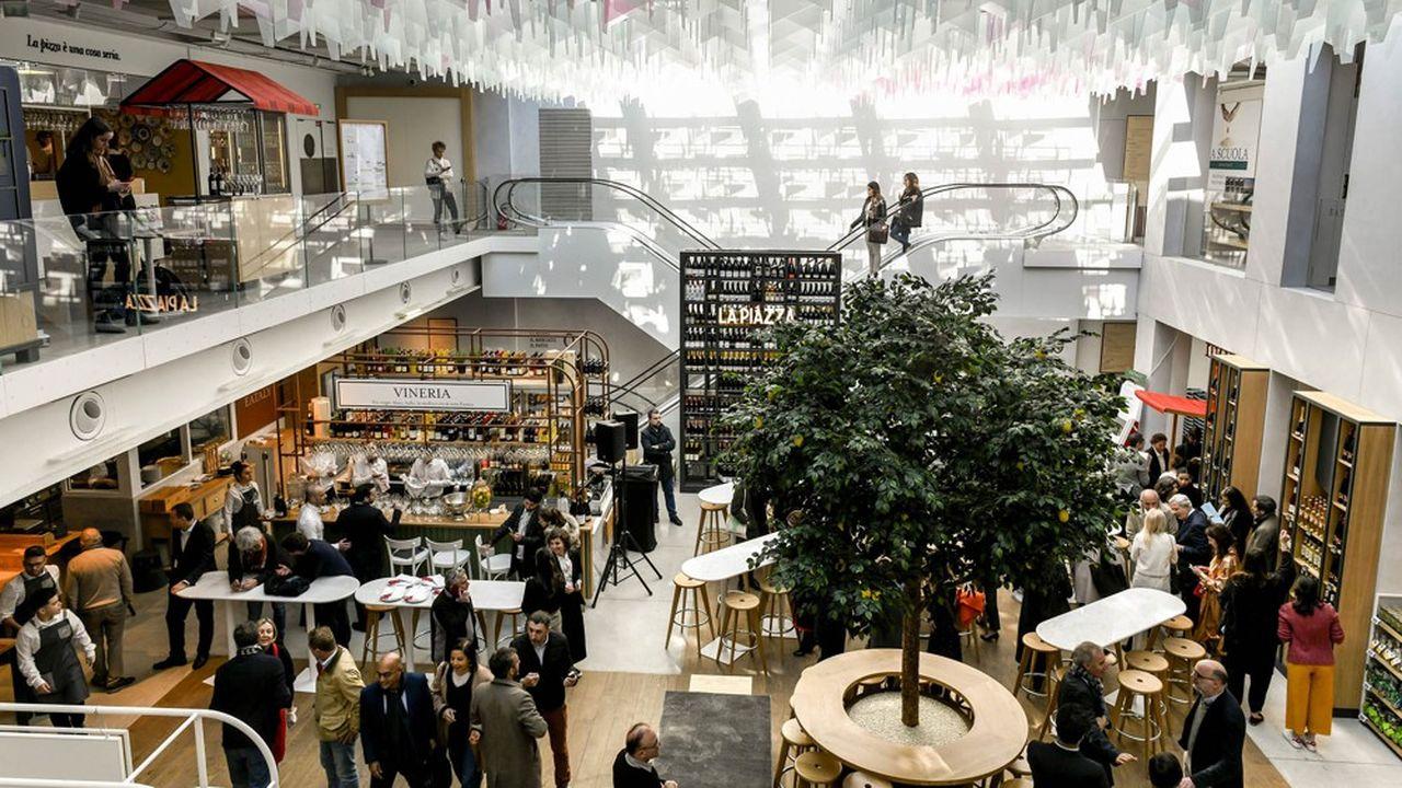 Le concept Eataly (ici son magasin parisien, dans le quartier du Marais) est consacré à la gastronomie italienne.