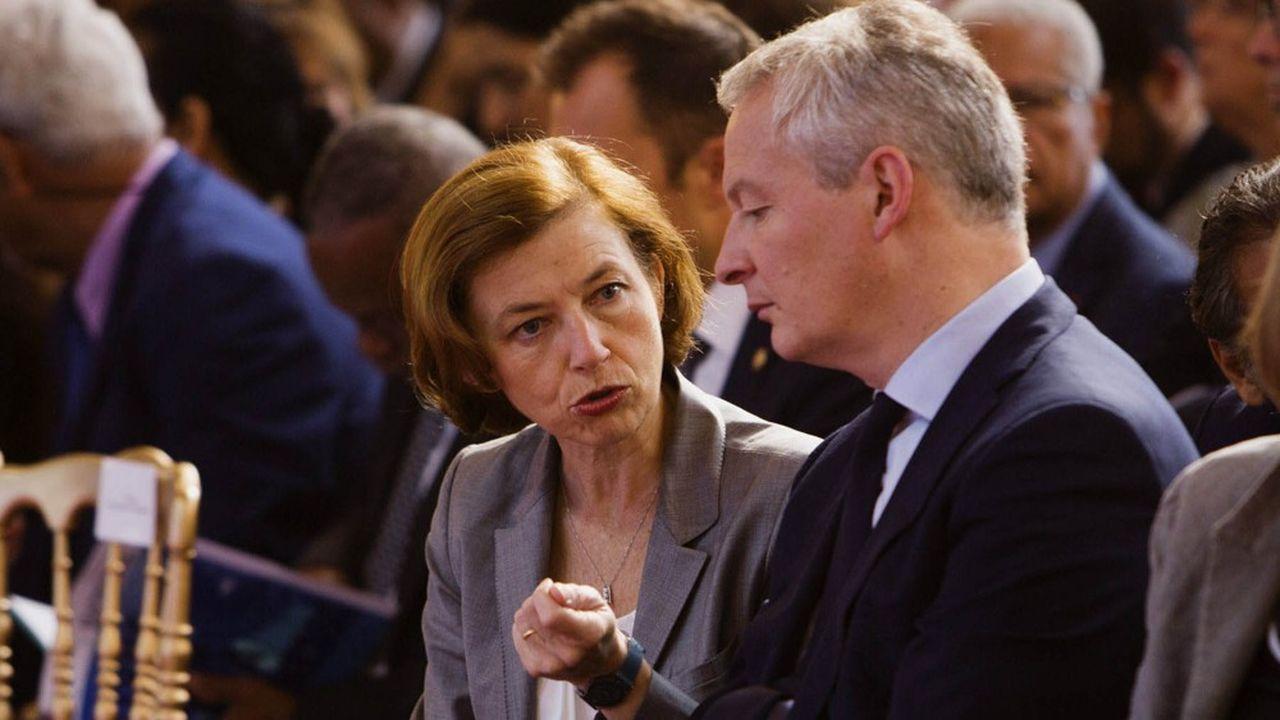 Florence Parly et Bruno Le Maire, en juin2018, à Paris.