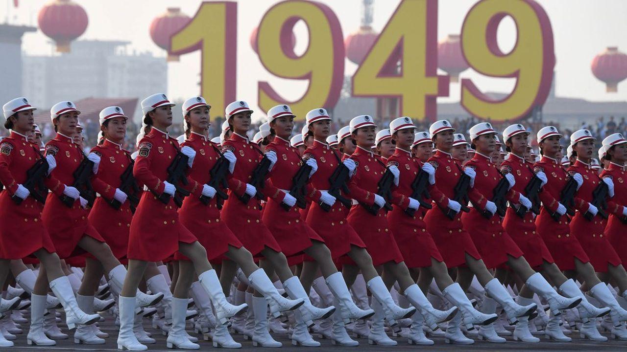 L'armée de libération chinoise a voulu faire une démonstration de force à l'occasion du soixantième anniversaire du parti communiste.