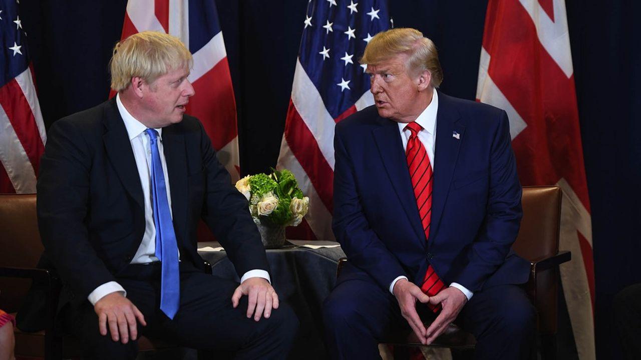 Rencontre entre Boris Jonhson et Donald Trump lors de l'assemblée générale des Nations unies.
