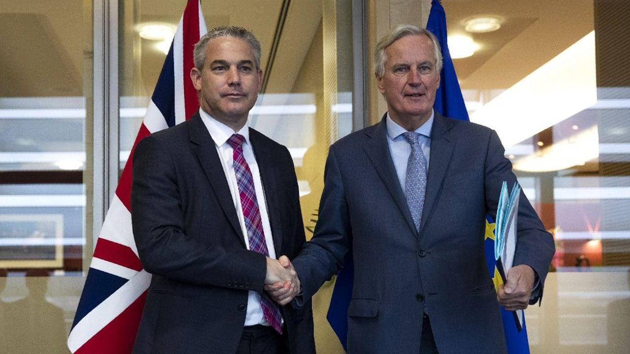Le négociateur de l'Union européenne Michel Barnier a qualifié de «constructive» sa rencontre avec le ministre britannique du Brexit Stephen Barclay ce vendredi matin à Bruxelles.