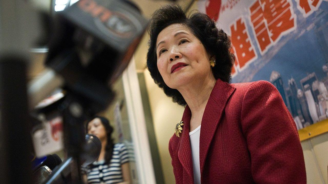 Anson Chan, ancienne cheffe de l'administration de Hong Kong.