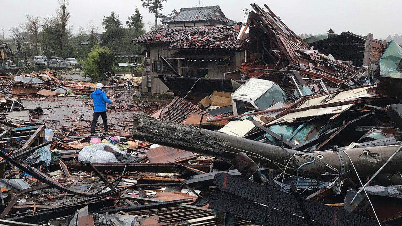 La région de Chiba a particulièrement été touchée par le typhon.