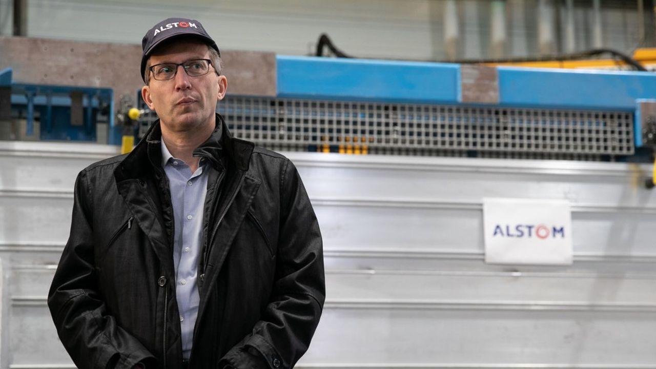 Henri Poupart-Lafarge, le 19 février dernier, lors d'une visite des sites industriels Alstom et Bombardier à Valenciennes.