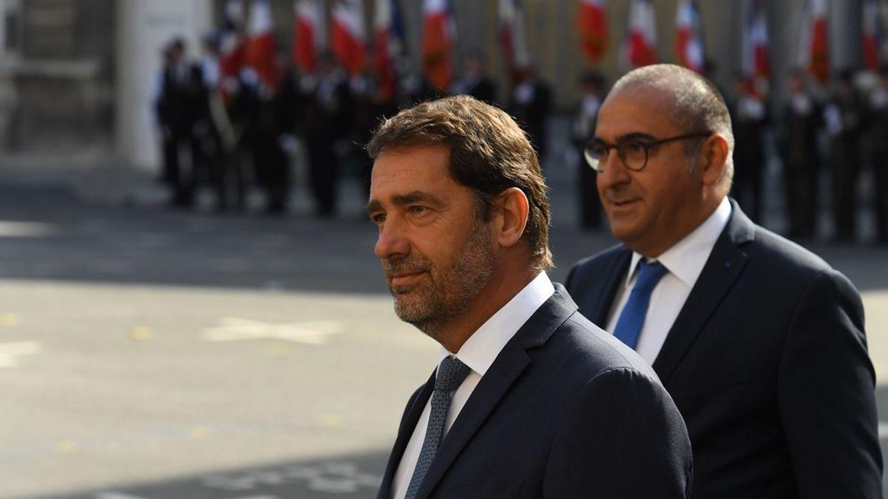 Christophe Castaner, ministre de l'Intérieur, et Laurent Nuñez,secrétaire d'Etat auprès du ministre de l'Intérieur.