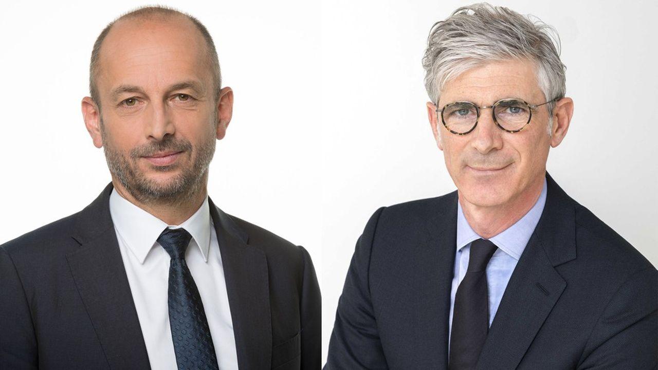 Thierry Beaudet (à gauche) et Stéphane Dedeyan, respectivement président et directeur général du groupe Vyv.