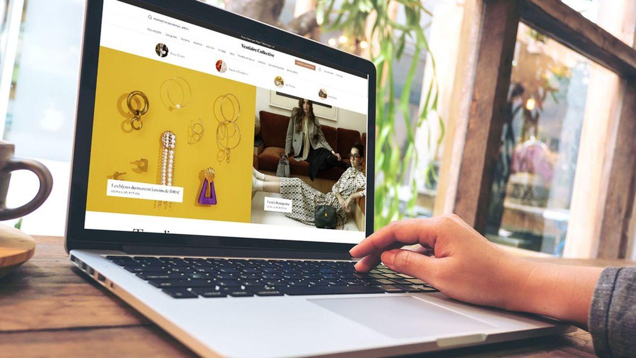 Le site Vestiaire Collective vend des produits haut de gamme en ligne.