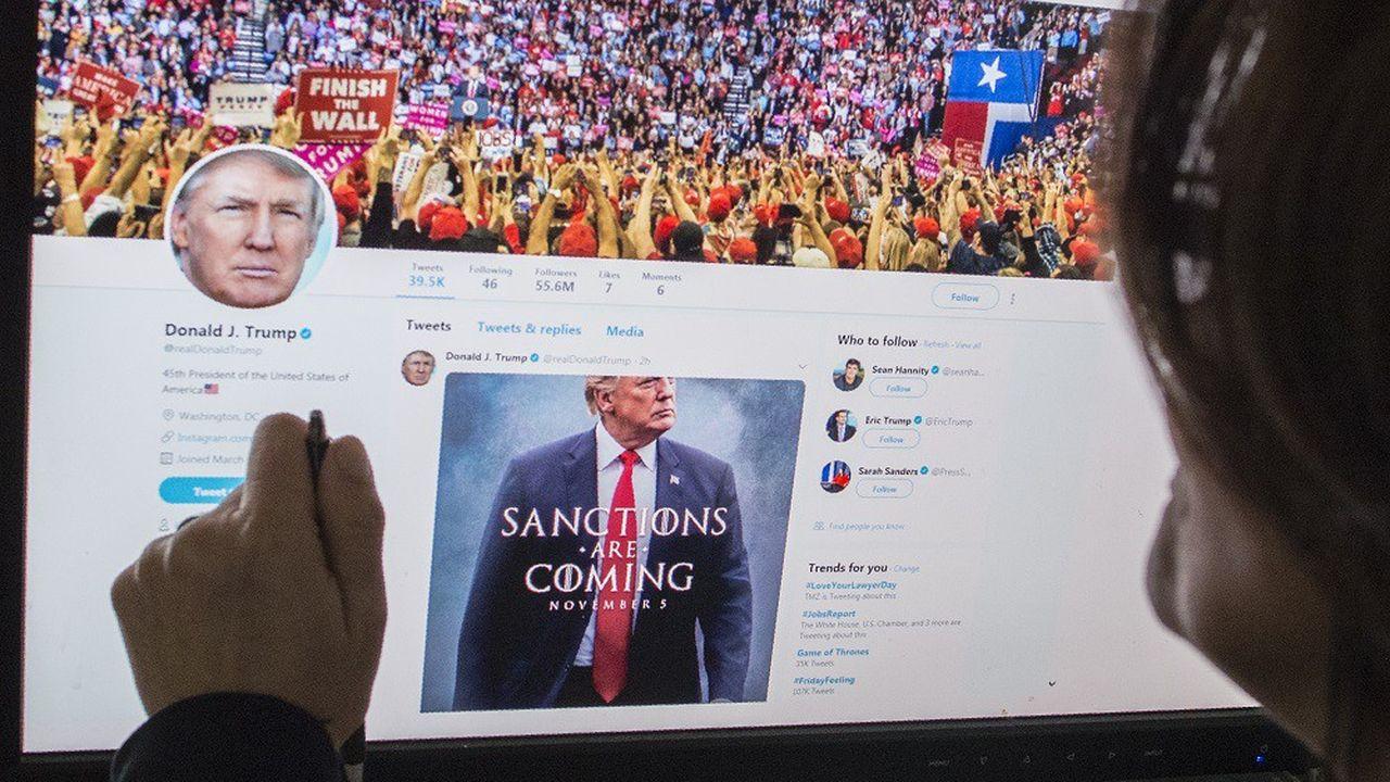 Donald Trump, un utilisateur particulièrement assidu de Twitter.