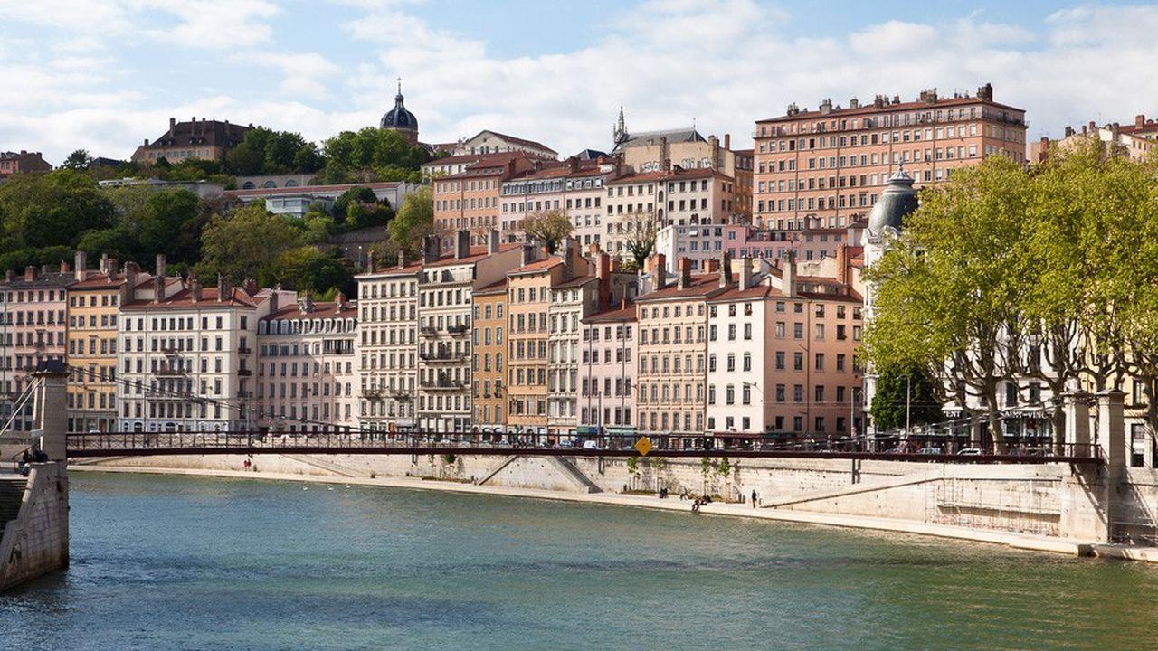 Avec 6,6millions de mètres carrés de bureaux, Lyon (photo) représente le premier marché tertiaire régional tricolore, hors Ile-de-France.