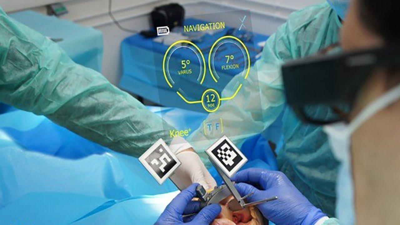 Des lunettes connectées qui guident la pose d'une prothèse du genou