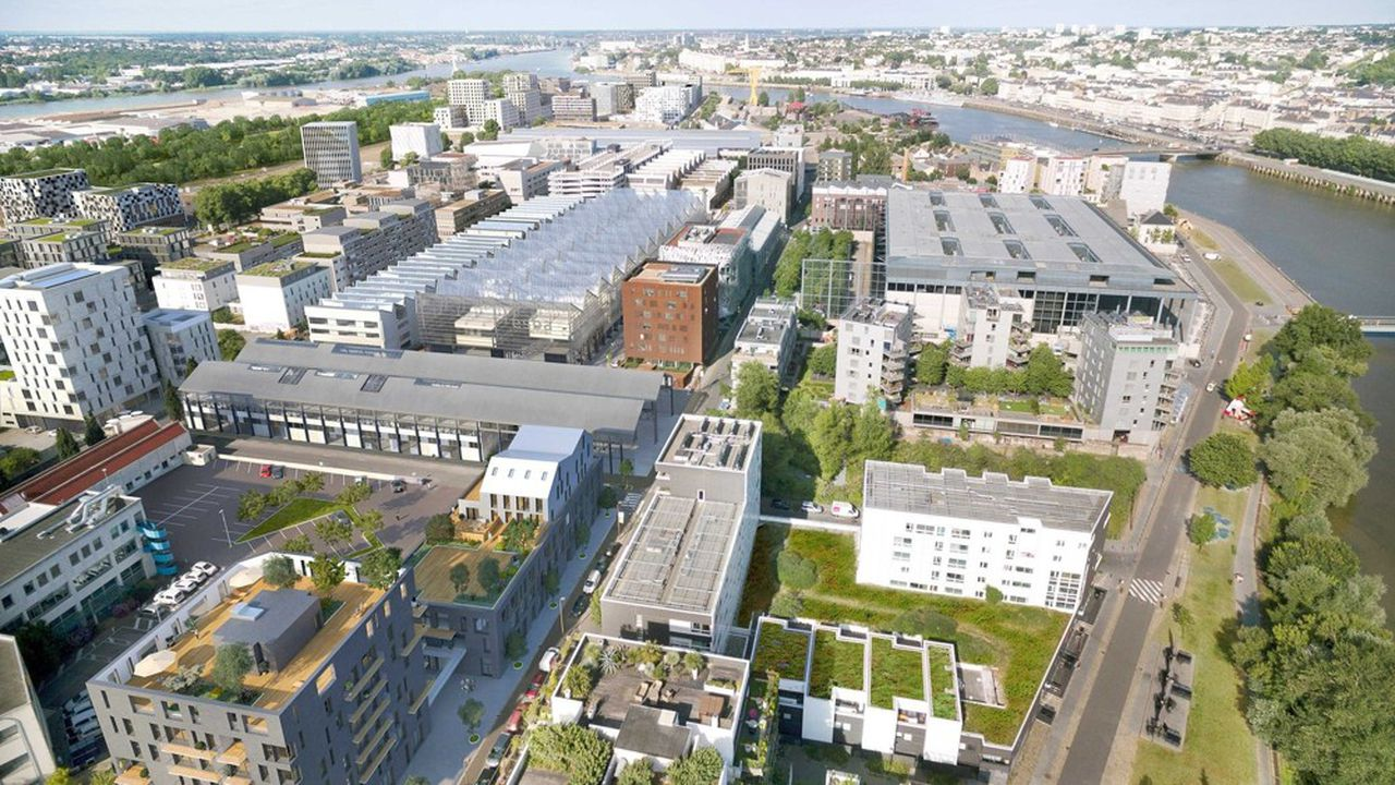 Le «Quartier de la création» de l'île de Nantes, s'articulant autour des anciennes usines d'Alstom, a séduit des sociétés parisiennes.