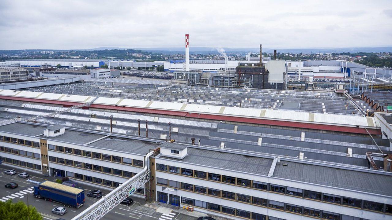 Les 200 hectares de l'usine auto PSA Peugeot Citroen de Sochauxse réduisent d'année en année.