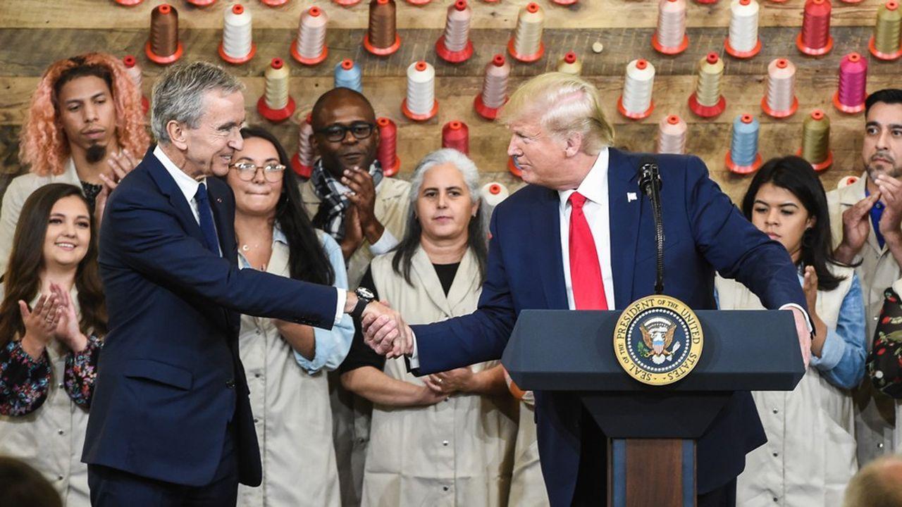 Luxe: Donald Trump inaugure la troisième usine Louis Vuitton aux États-Unis
